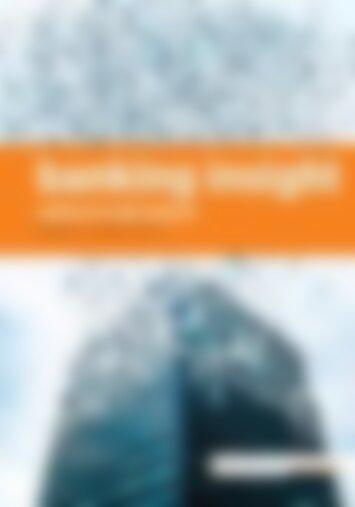 01 | 2017 banking insight
