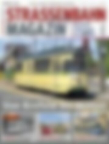 STRASSENBAHN MAGAZIN Von Krefeld bis Witten (Vorschau)