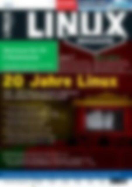 Linux-Magazin 20 Jahre Linux (Vorschau)