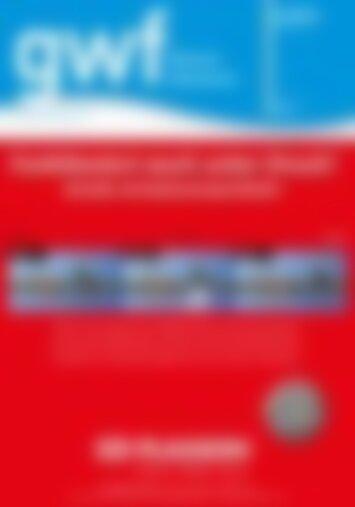 gwf Wasser/Abwasser Aufruf zur Internationalität (Vorschau)